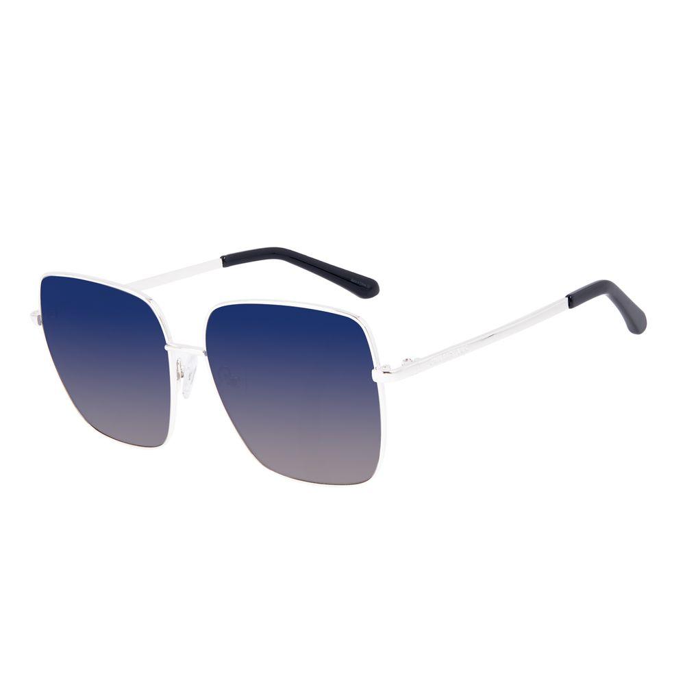 Óculos de Sol Feminino Chilli Beans Quadrado Banhado A Ouro Degradê Azul OC.MT.3127-8321