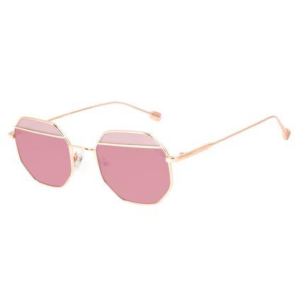 Óculos de Sol Feminino Chilli Beans Octagonal Metal Fashion Rosé OC.MT.3125-1795