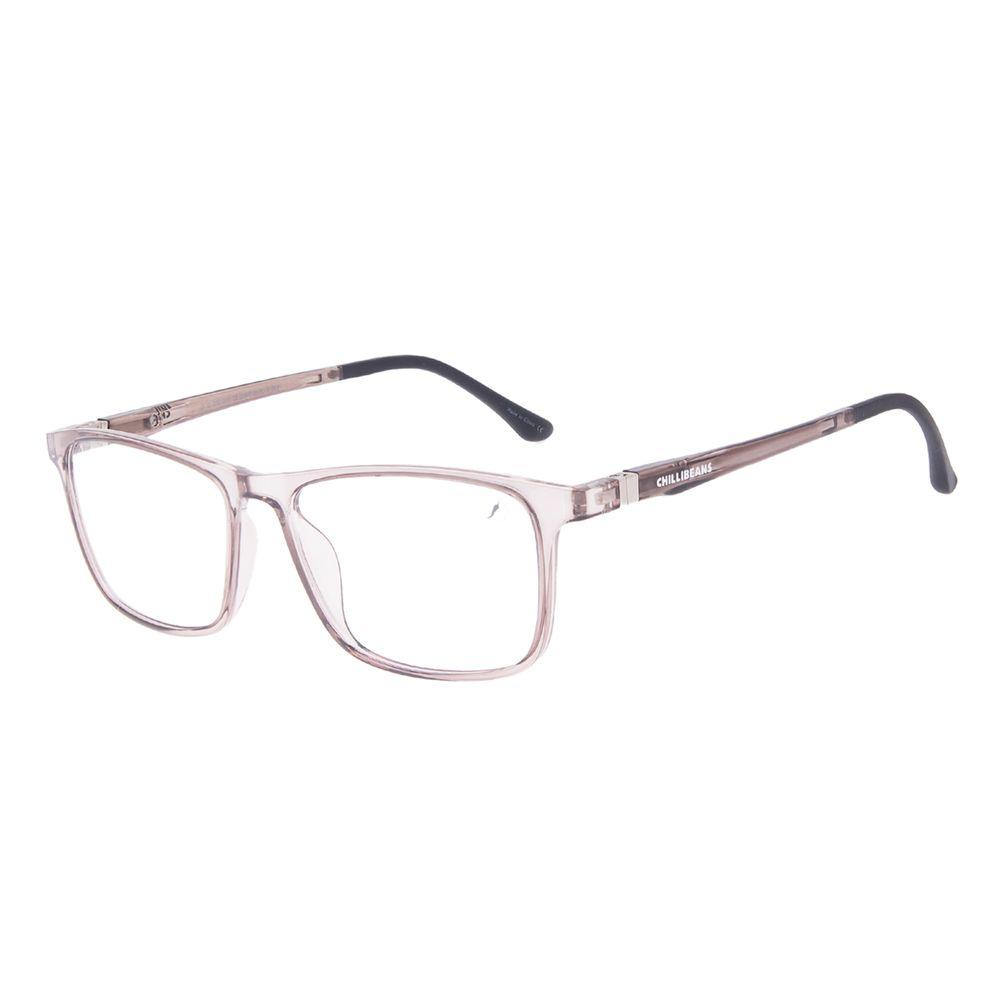 Armação Para Óculos de Grau Masculino Chilli Beans Retangular Rosé LV.IJ.0193-0101