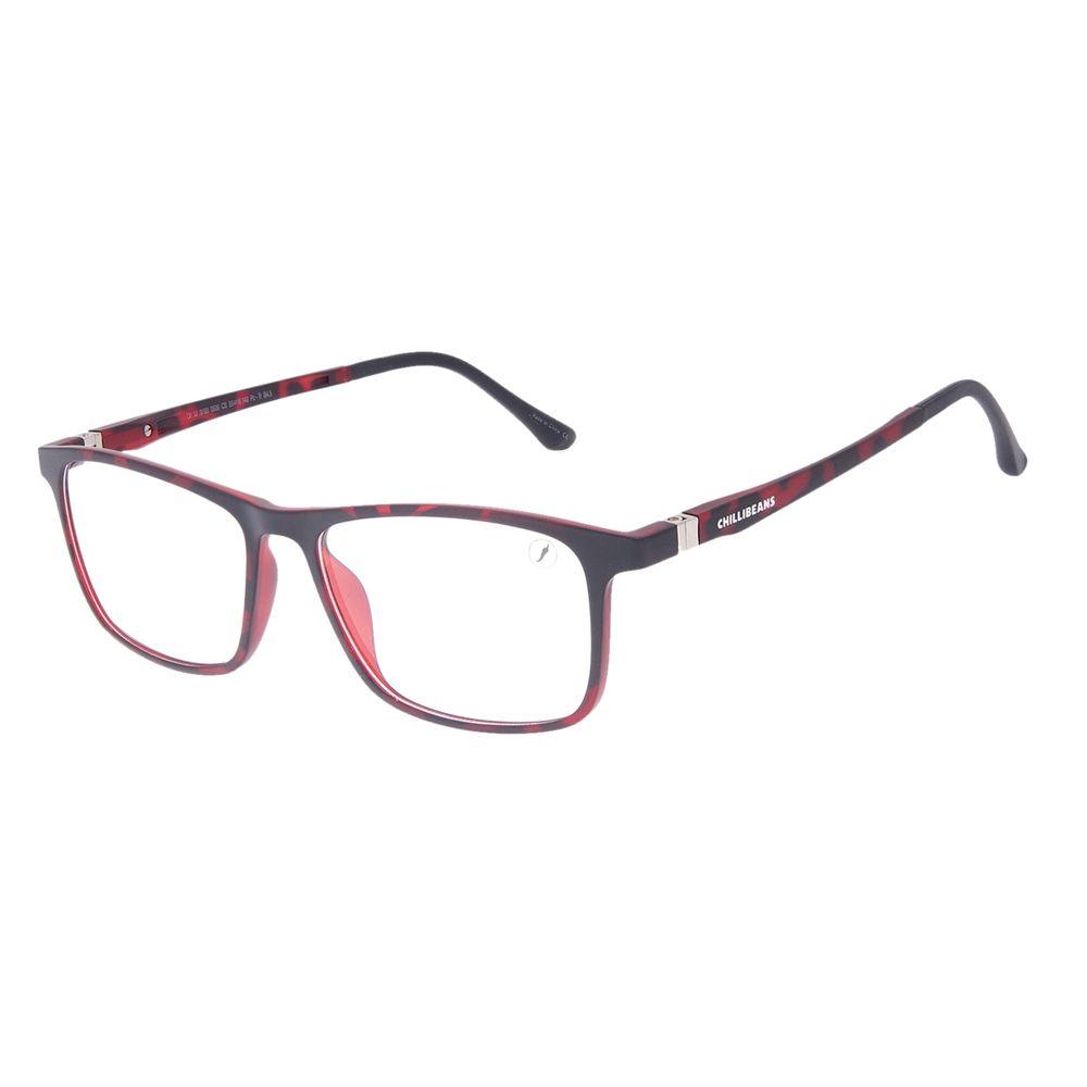Armação Para Óculos de Grau Masculino Chilli Beans Retangular Tartaruga LV.IJ.0193-0606