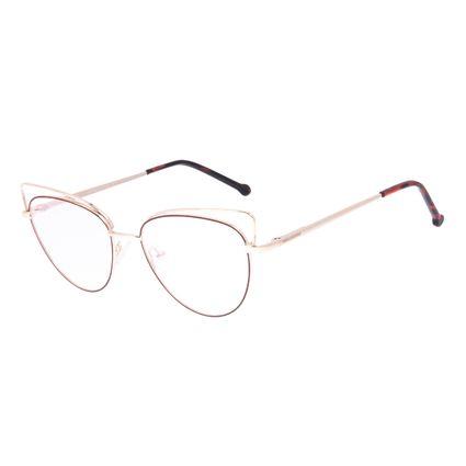 Armação Para Óculos de Grau Feminino Chilli Beans Gatinho Vinho LV.MT.0563-1721