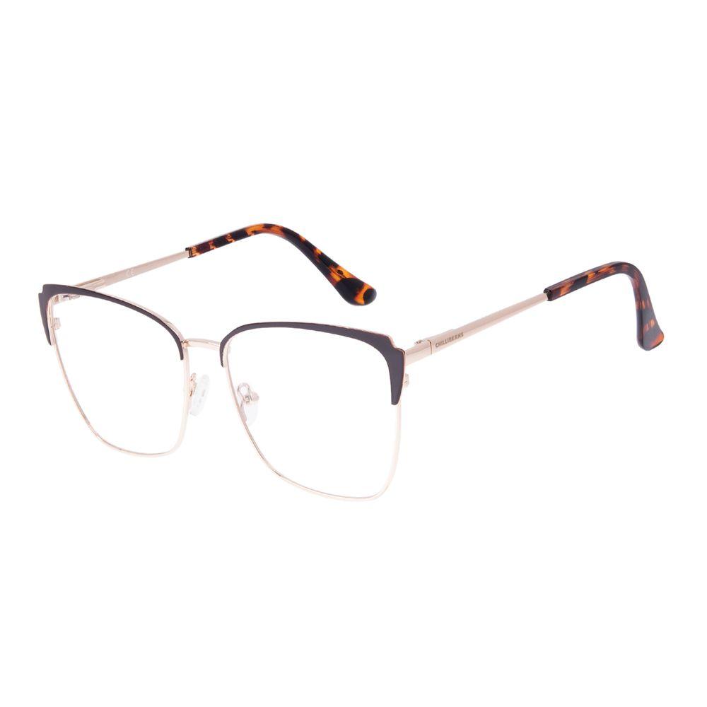 Armação Para Óculos de Grau Feminino Chilli Beans Cat Marrom LV.MT.0564-0221