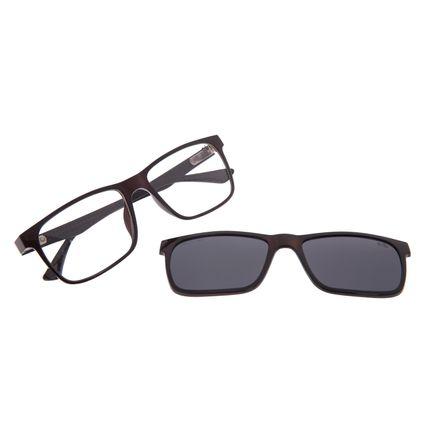 Armação Para Óculos de Grau Masculino Chilli Beans Multi Polarizado Marrom LV.MU.0135-0102