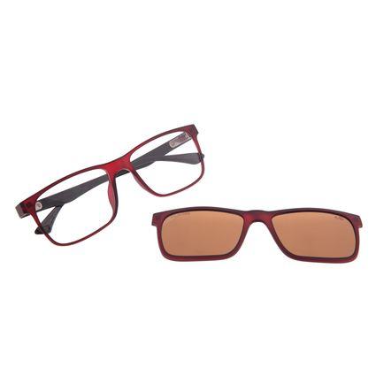 Armação Para Óculos de Grau Masculino Chilli Beans Multi Polarizado Vinho LV.MU.0135-0217