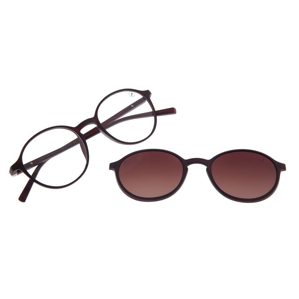 Armação Para Óculos de Grau Feminino Chilli Beans Multi Polarizado Marrom LV.MU.0480-5702