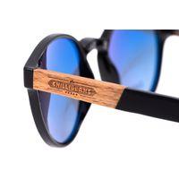 Óculos de Sol Unissex Beer Redondo Wood Degradê Marrom  OC.CL.3314-5701.5