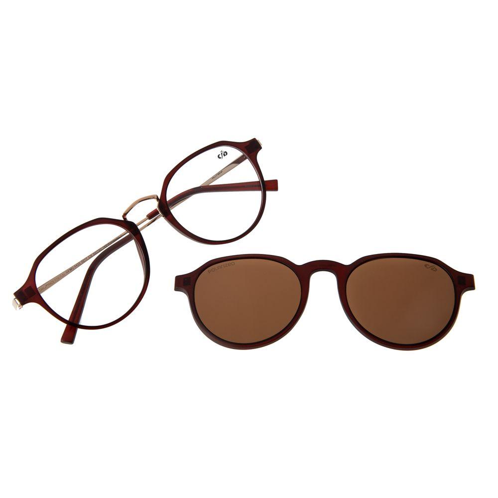 Armação Para Óculos de Grau Feminino Chilli Beans Multi Polarizado Vinho LV.MU.0422-0217