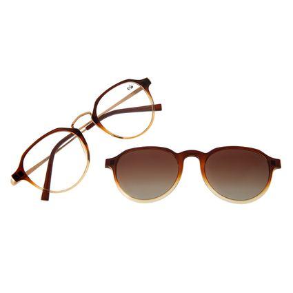 Armação Para Óculos de Grau Feminino Chilli Beans Multi Polarizado Marrom LV.MU.0422-5702