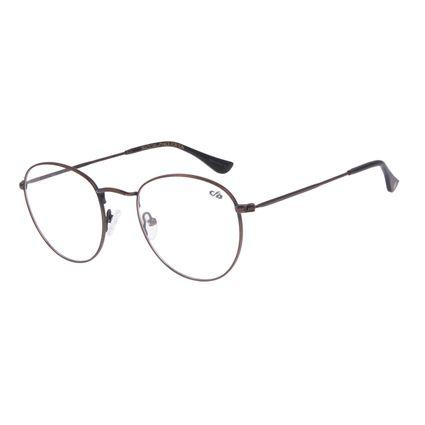 Armação Para Óculos de Grau Unissex Chilli Beans Redondo Marrom Escuro LV.MT.0304-4747