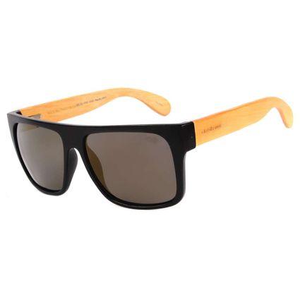 Óculos de Sol Masculino Chilli Beans Bamboo Preto Polarizado OC.CL.3003-3001