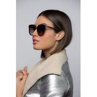 Óculos de Sol Feminino Chilli Beans Maxi Redondo Degradê Marrom OC.CL.3216