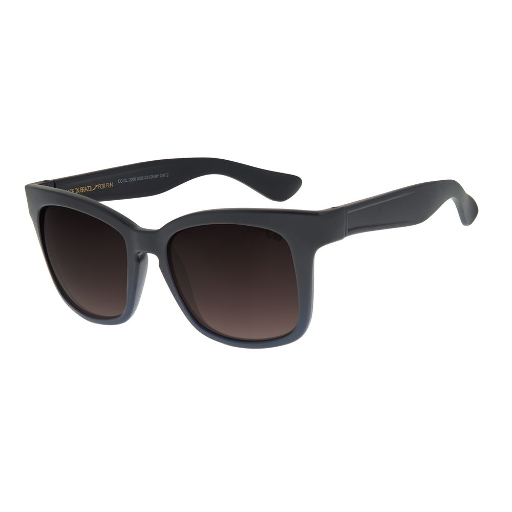 Óculos de Sol Feminino Chilli Beans Quadrado Fosco Azul Escuro OC.CL.2200-2008