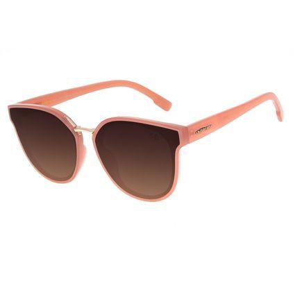 Óculos de Sol Feminino Chilli Beans Redondo Classic Degradê Bege OC.CL.3204-5723
