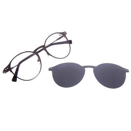 Armação Para Óculos de Grau Unissex Chilli Beans Multi 2 em 1 Polarizado Ônix LV.MU.0462-0122