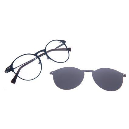 Armação Para Óculos de Grau Unissex Chilli Beans Multi 2 em 1 Polarizado Azul Escuro LV.MU.0462-0190