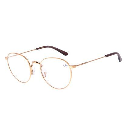Armação Para Óculos de Grau Feminino Chilli Beans Metal Redondo Cobre LV.MT.0453-3939