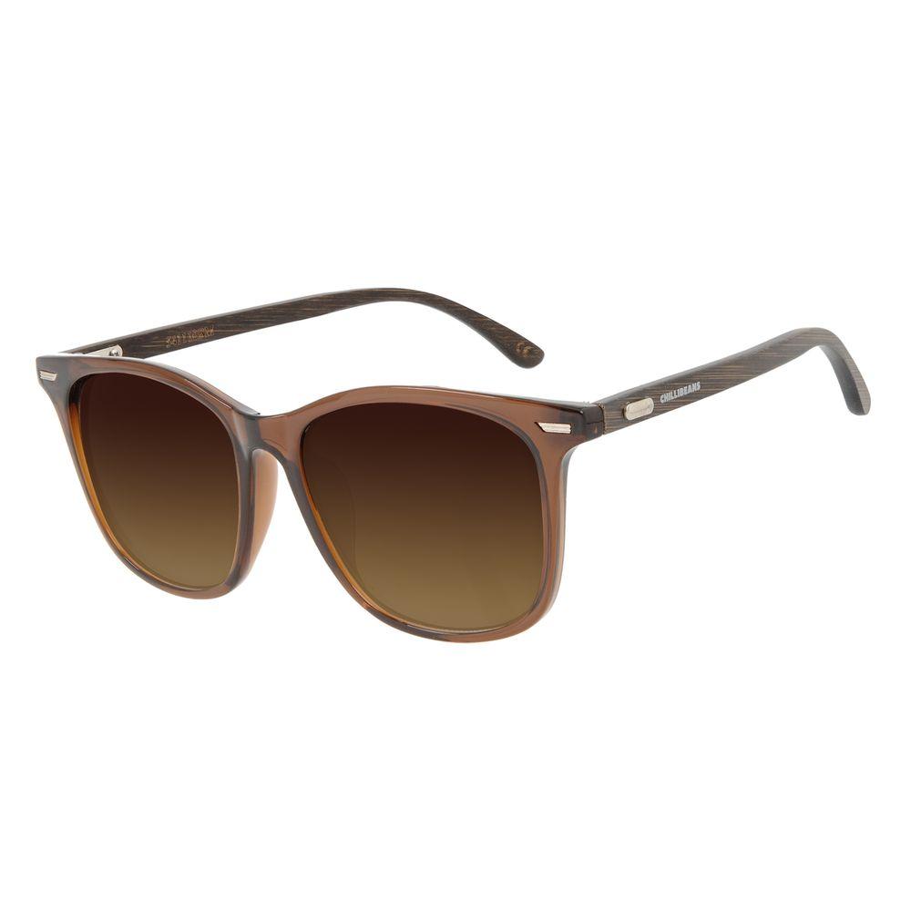 Óculos de Sol Masculino Chilli Beans Bossa Nova Marrom OC.CL.3280-2047