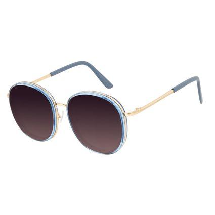 Óculos de Sol Feminino Chilli Beans Casual Redondo Azul OC.CL.3287-2008
