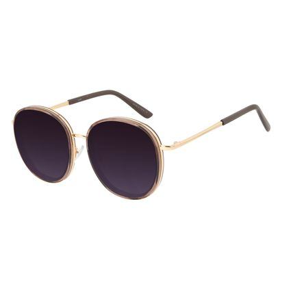 Óculos de Sol Feminino Chilli Beans Casual Redondo Marrom OC.CL.3287-2002