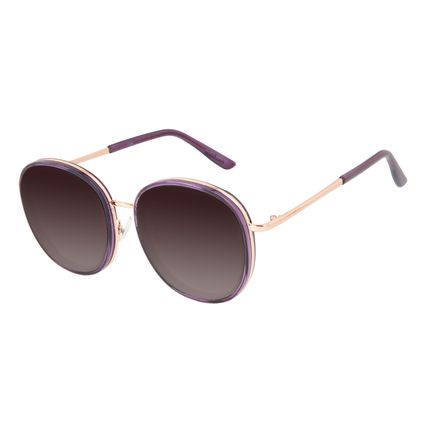 Óculos de Sol Feminino Chilli Beans Casual Redondo Roxo OC.CL.3287-5714
