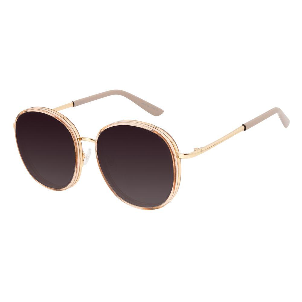 Óculos de Sol Feminino Chilli Beans Casual Redondo Cinza OC.CL.3287-0404