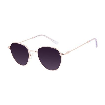 Óculos de Sol Feminino Chilli Beans Redondo Casual Metal Brilho Redondo Rosé OC.MT.3128-2095