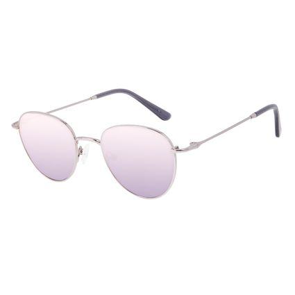 Óculos de Sol Feminino Chilli Beans Redondo Casual Metal Brilho Redondo Ônix OC.MT.3128-2022