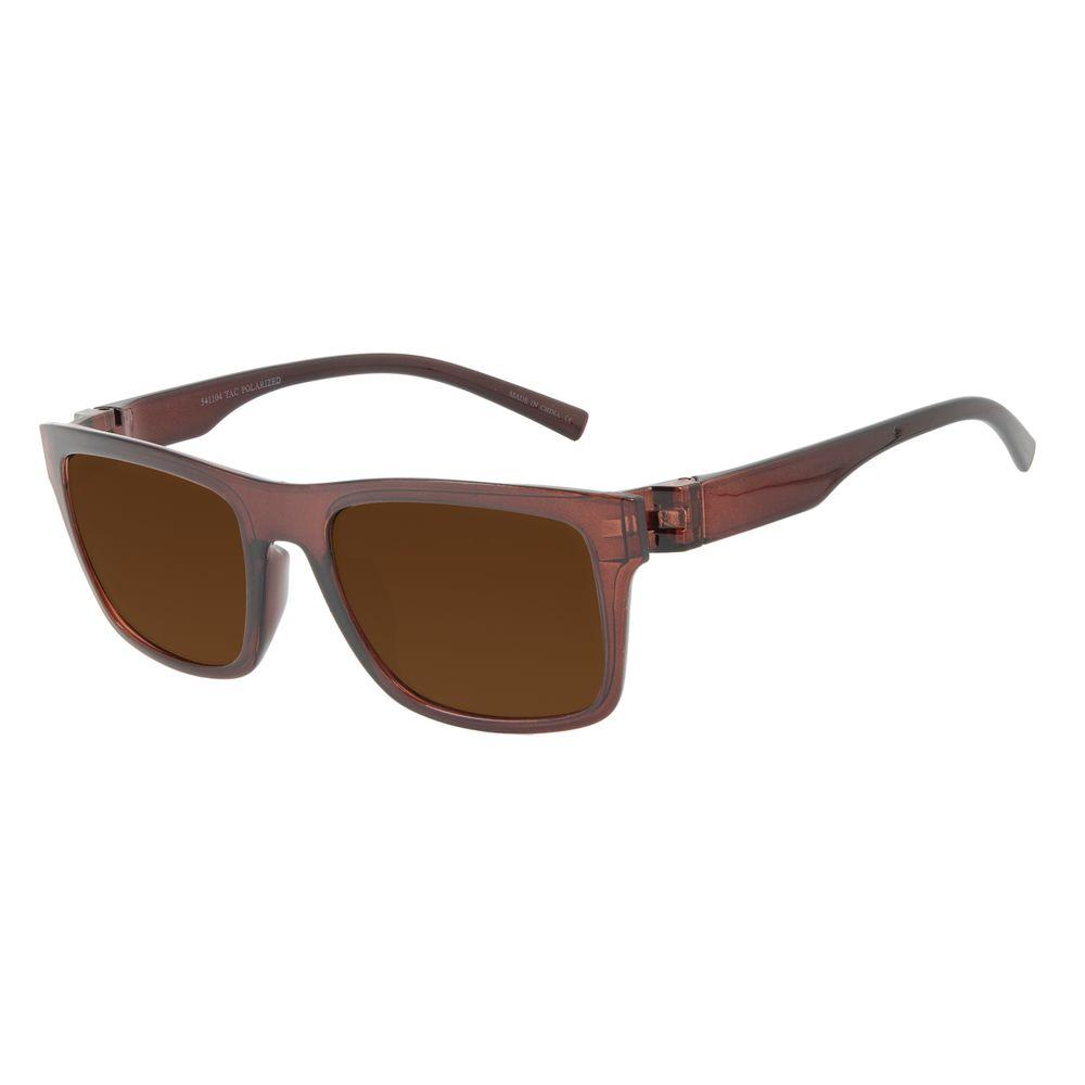Óculos de Sol Masculino Chilli Beans New Sport Polarizado Marrom OC.ES.1268-0202