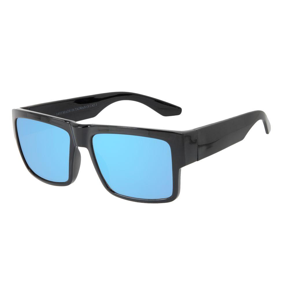 Óculos de Sol Masculino Chilli Beans New Sport Azul Espelhado OC.ES.1269-9101