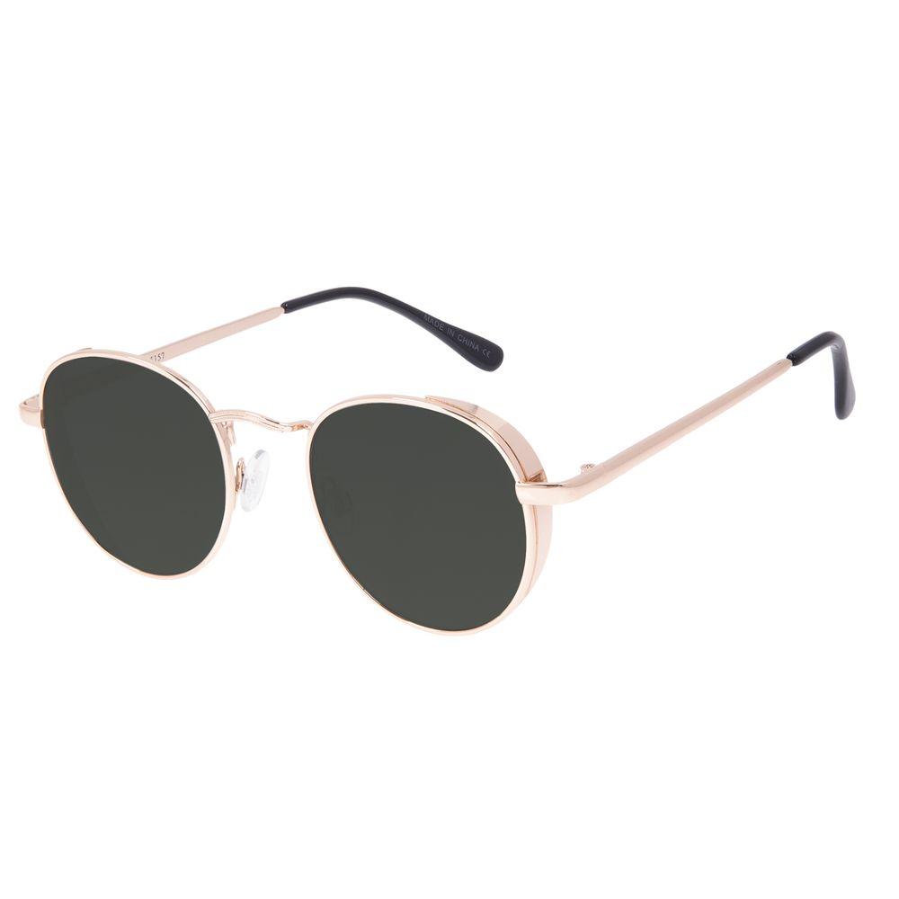 Óculos de Sol Unissex Chilli Beans Redondo Flap Verde OC.MT.3088-1501