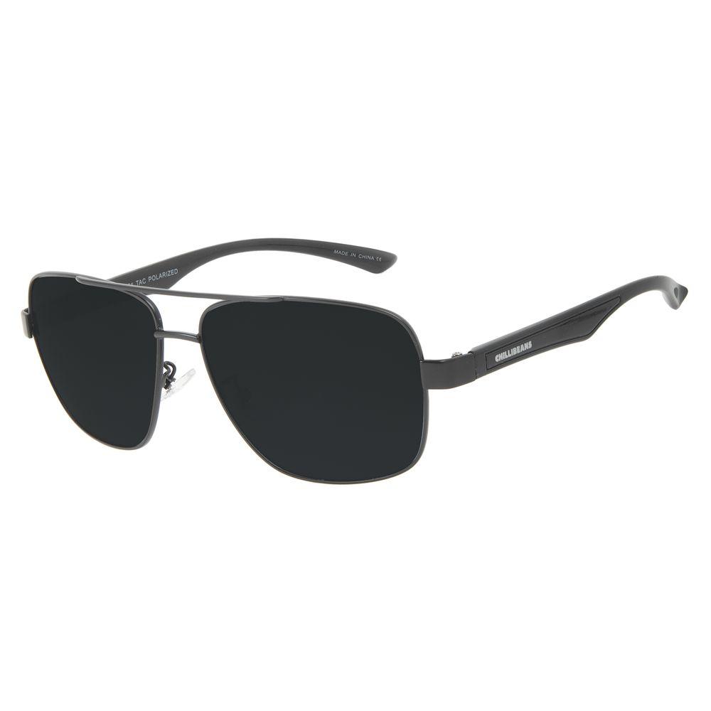 Óculos de Sol Masculino Chilli Beans Executivo Preto Polarizado OC.MT.3091-0101