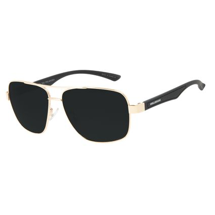 Óculos de Sol Masculino Chilli Beans Executivo Dourado Polarizado OC.MT.3091-0121