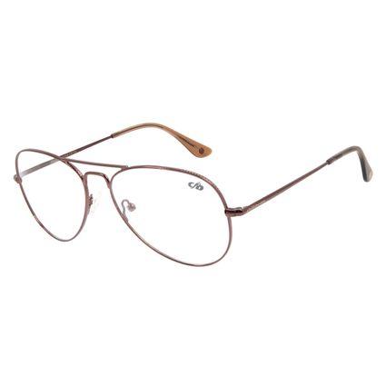 Armação Para Óculos de Grau Unissex Chilli Beans Aviador Metal Marrom Escuro LV.MT.0389-4747