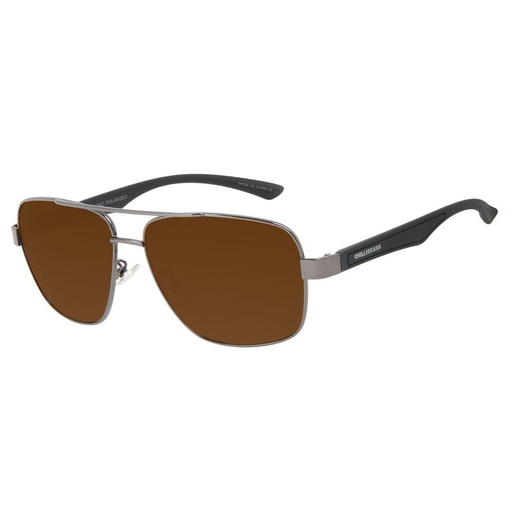 Óculos de Sol Masculino Chilli Beans Executivo Ônix Polarizado OC.MT.3091-0222
