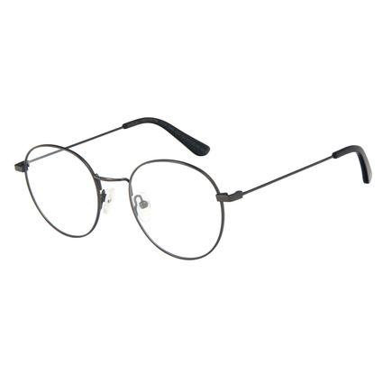 Armação Para Óculos de Grau Feminino Chilli Beans Redondo Metal Fosco Ônix LV.MT.0449-2222