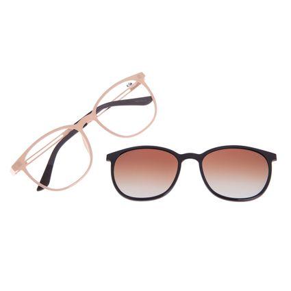 Armação Para Óculos de Grau Feminino Chilli Beans Multi 2 em 1 Bege Polarizado LV.MU.0187-5723