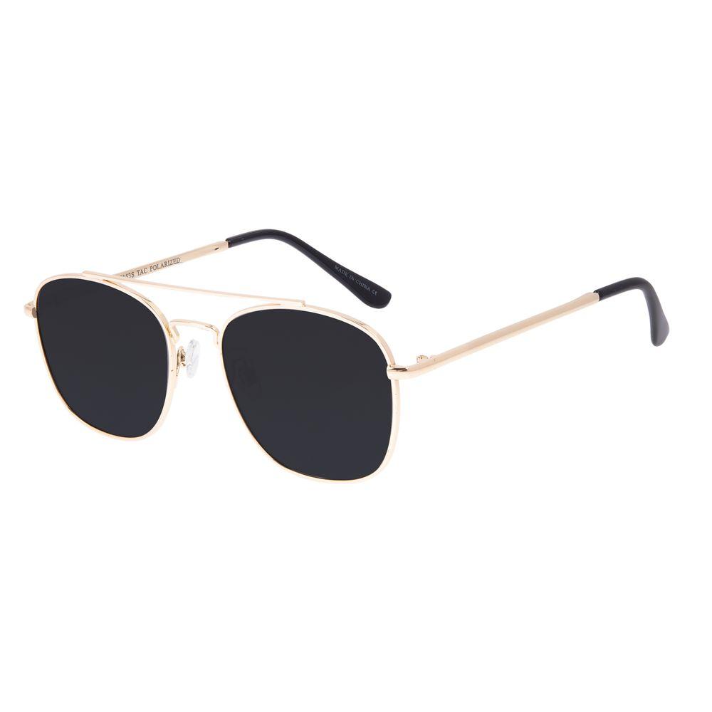 Óculos de Sol Unissex Chilli Beans Executivo Dourado Polarizado OC.MT.3094-0121