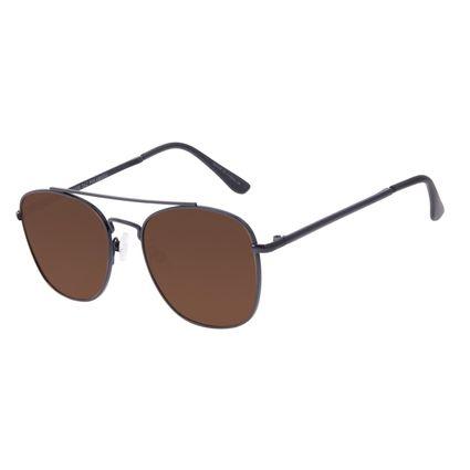 Óculos de Sol Unissex Chilli Beans Executivo Marrom Polarizado OC.MT.3094-0201