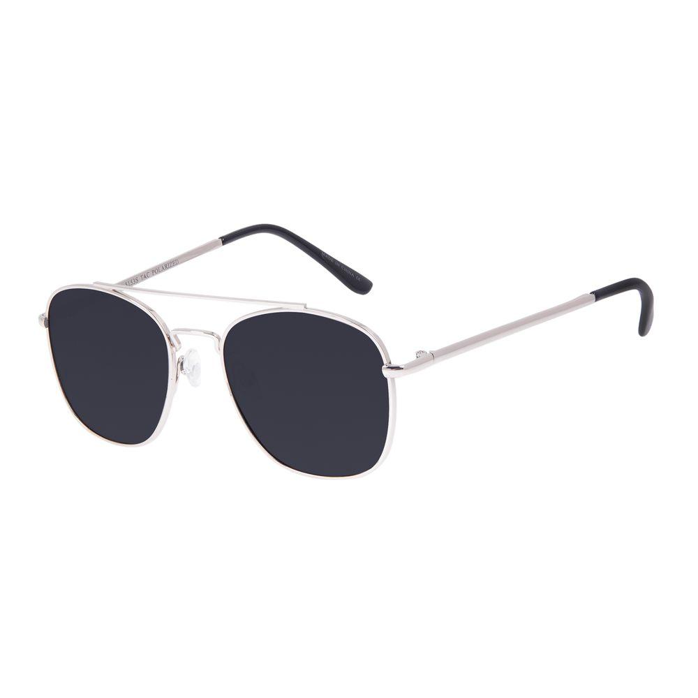 Óculos de Sol Unissex Chilli Beans Executivo Prata Polarizado OC.MT.3094-0107