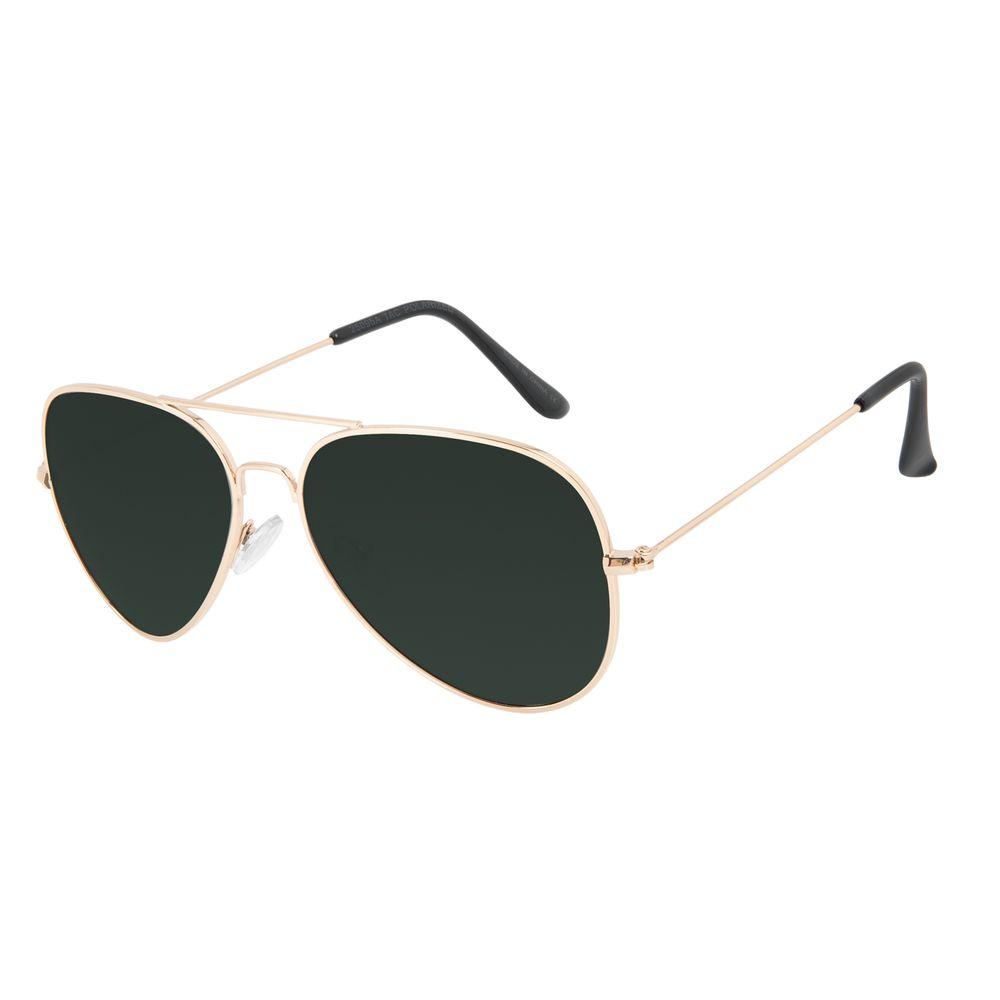 Óculos de Sol Masculino Chilli Beans Aviador Verde Polarizado OC.MT.3096-1521