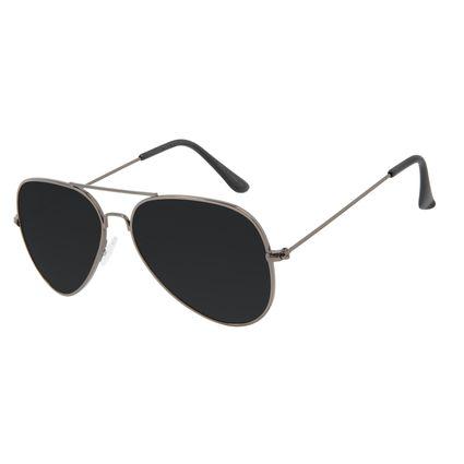 Óculos de Sol Masculino Chilli Beans Aviador Ônix Polarizado OC.MT.3096-0122