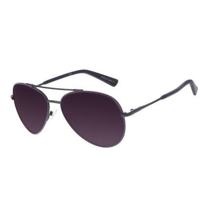 Óculos de Sol Unissex Chilli Beans Aviador Metal Brilho Preto OC.MT.3097-2001