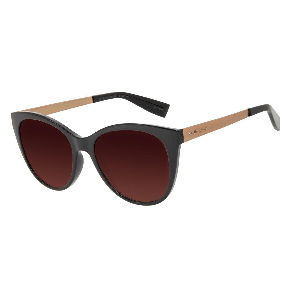 Óculos de Sol Feminino Chilli Beans Redondo Degradê Marrom OC.CL.3243-2002
