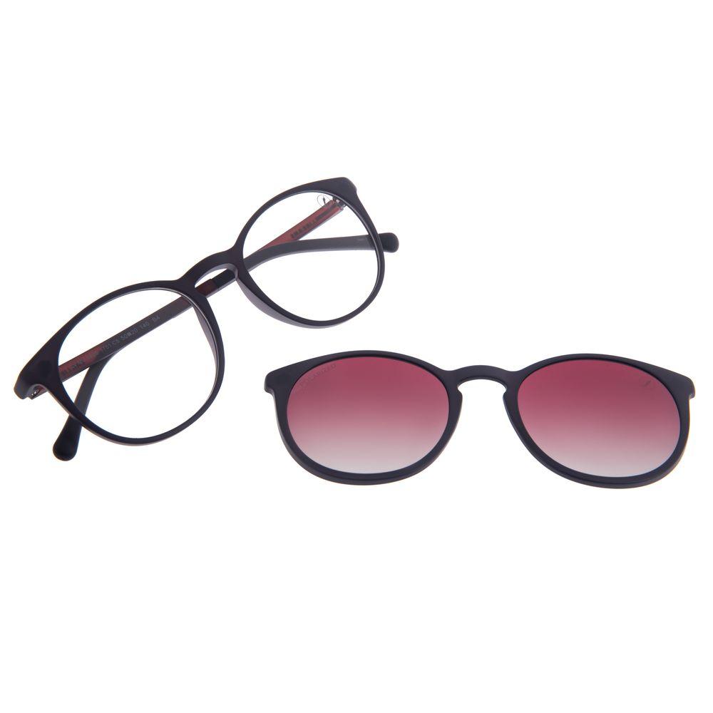 Armação Para Óculos de Grau Unissex Chilli Beans Multi Vinho Polarizado LV.MU.0550-1701