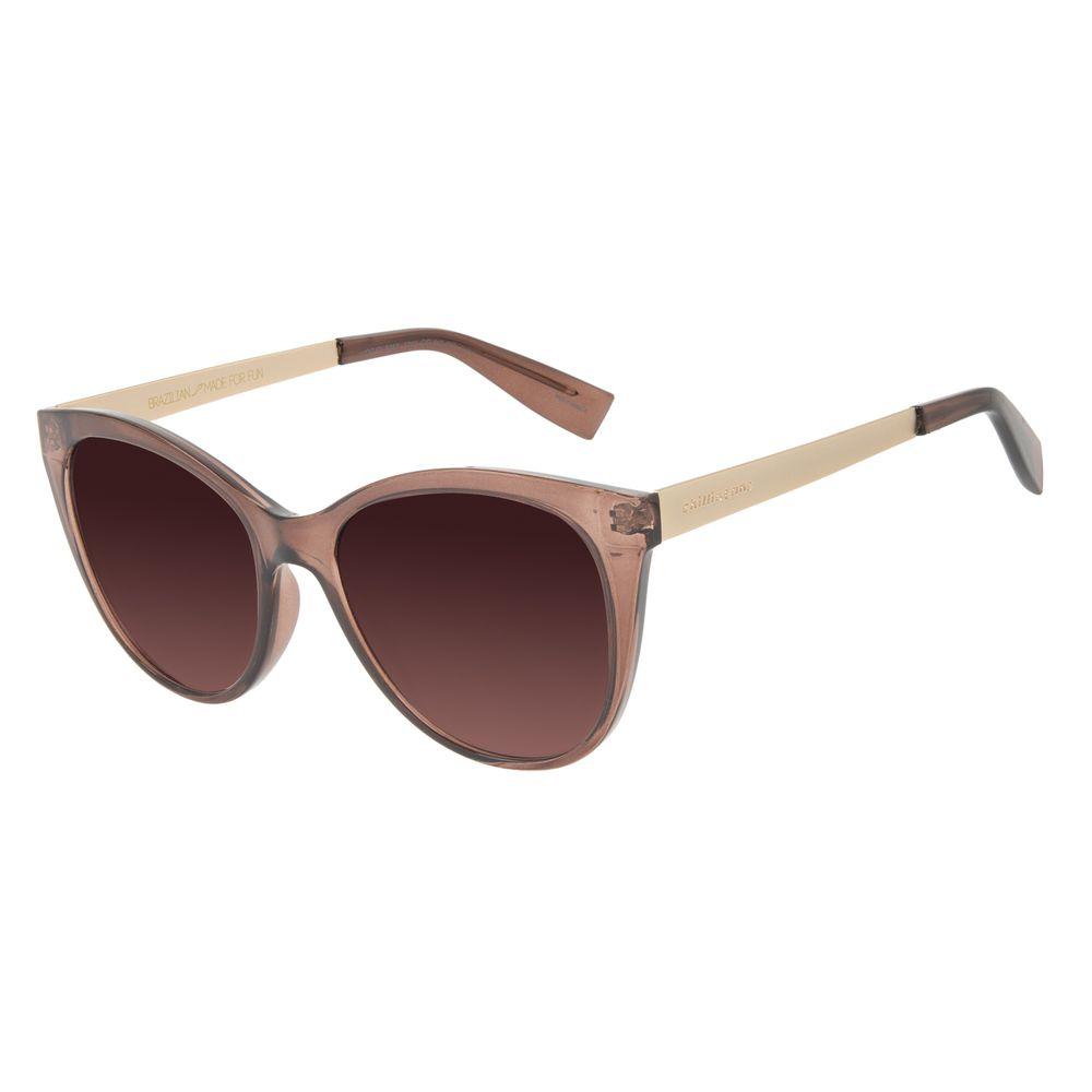 Óculos de Sol Feminino Chilli Beans Redondo Marrom OC.CL.3243-5702
