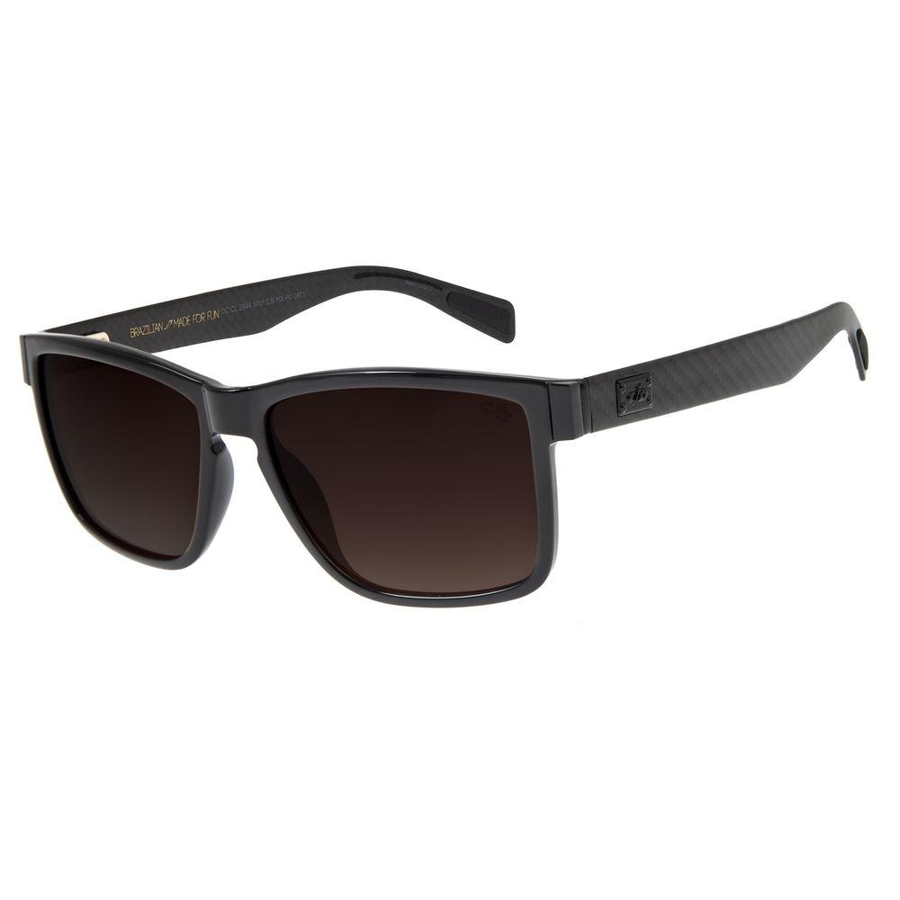 Óculos de Sol Masculino Chilli Beans Bossa Nova Polarizado Degradê Marrom OC.CL.3249-5701