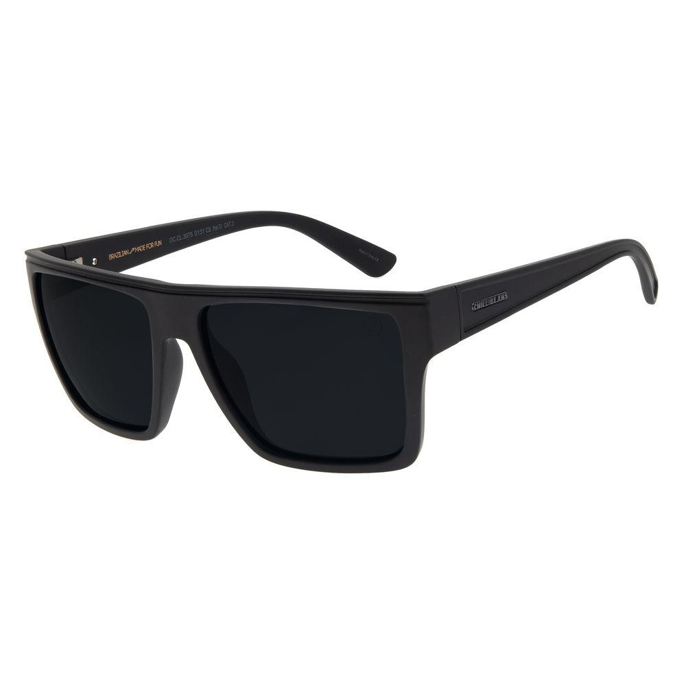 Óculos de Sol Unissex Chilli Beans Essential Fosco Preto Polarizado OC.CL.3261-0131