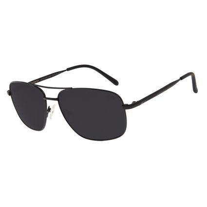 Óculos de Sol Masculino Chilli Beans Executivo Casual Metal Fosco Cinza Polarizado OC.MT.3069-0401