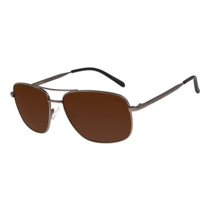 Óculos de Sol Masculino Chilli Beans Executivo Casual Metal Fosco Ônix Polarizado OC.MT.3069-0222