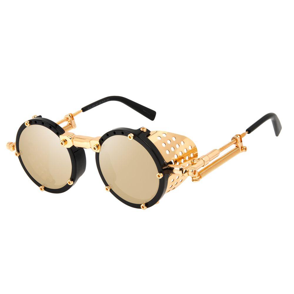 Óculos de Sol Unissex Alok Tech In Style Icônico Steampunk Fashion Preto OC.CL.3293-2001